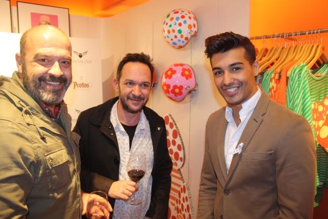 Juan Loste, Ulises Mérida y Jorge González