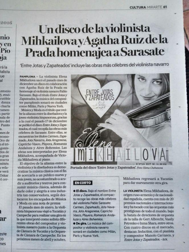 elena mikhailova musica y moda navarra noticias de navarria sarasate violinista disco