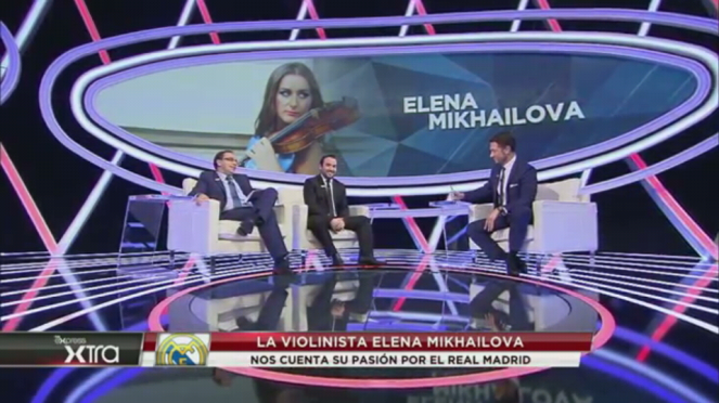 VIOLINISTA MADRIDISTA EN BE IN SPORT elena mikhailova