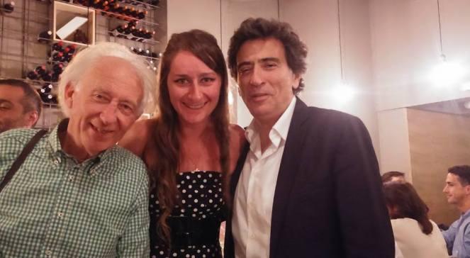 De izq a der, Albert Boadella, Elena Mikhailova violinista, Ardaci Espada periodista